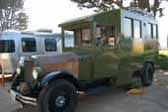 Front cab is integrated into the camper on a 1929 REO Camping Wagon truck based camper