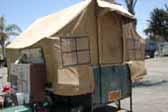 picture of original 1932 Gilkie Tent Trailer
