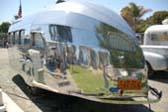 1936 Airstream Clipper Trailer, Rear End and Vintage Thin Bumper