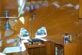 Amazing Wooden Ceiling in 1936 Airstream Clipper Trailer