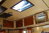 Photo of the ceiling vent in a 1937 vintage Vagabond trailer