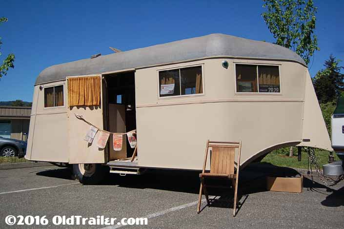 This vintage 1937 Vagabond trailer is in great condition