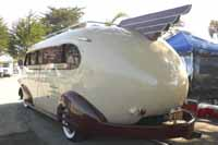 Pictures and history of 1941 Western Flyer Trailer designed by famed industrial designer Brooks Stevens