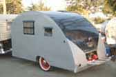 1947 Komfort Koach Teardrop Trailer is Larger than More Modern Units, funky cool!