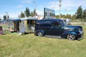 Classic 1947 Spartan Manor Trailer and Chevy Panel Truck Tow Vehicle