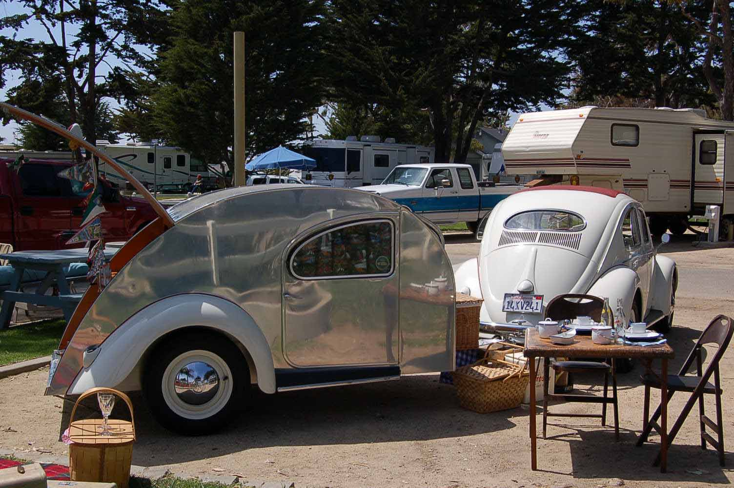 Tear Drop Trailer And A VW Mated
