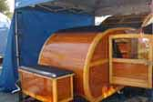 Cool 1947 Teardrop Trailer Satyled Like a Vintage Ford Woodie Wagon