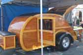 Vintage 1947 Teardrop Trailer With Woowork Designed Like a Ford Woodie Wagon
