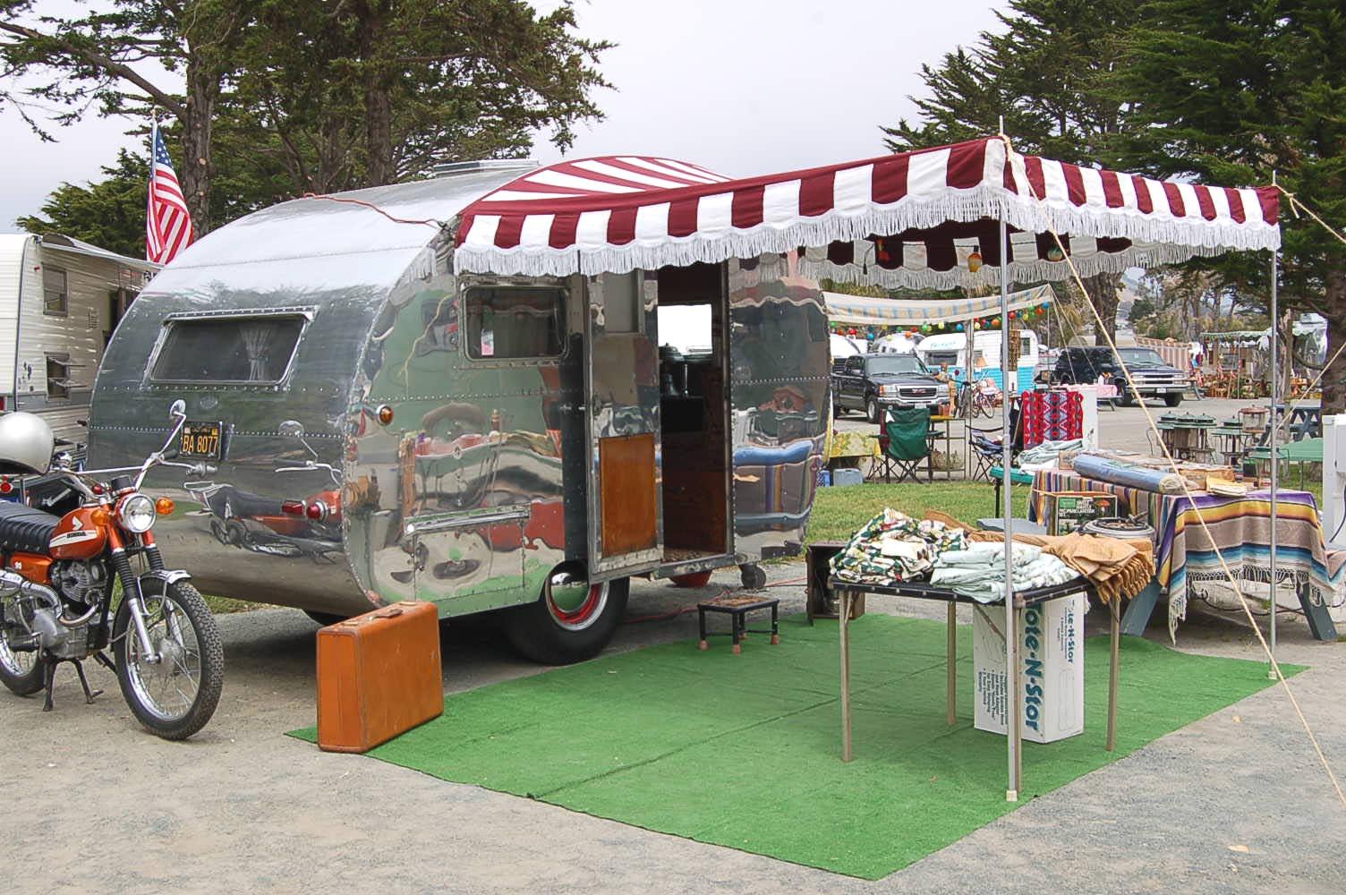 vintage trailer awnings from oldtrailer com