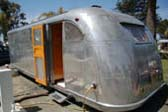 Vintage 1948 Spartan Manor Trailer Showing Classic Back Door Feature