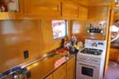 Amazing Cabinetry in Vintage 1948 Spartan Manor Trailer's Kitchen Area