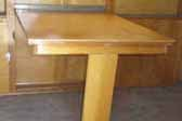 Photo of original fold-down dining table in 1948 Westcraft Westwood trailer