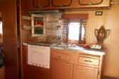 1949 Airfloat Skipper vintage travel trailer with original kitchen cabinets