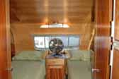 Awesome 1950 Airfloat Land Yacht vintage trailer coach, with twin beds in the cozy rear bedroom
