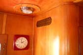 Beautifully Honey Gold Wood Paneling in 1950 Spartanette Tandem Trailer
