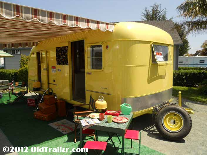 Camping in the Pismo Vintage Trailer in a 1950 Vagabond model-19 trailer