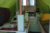 Picture of Vintage 1951 Fallon Palace Tent Trailer Interior