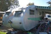 Photo of Wonderfully Retro Rear End of a 1951 Spartanette Tandem Trailer