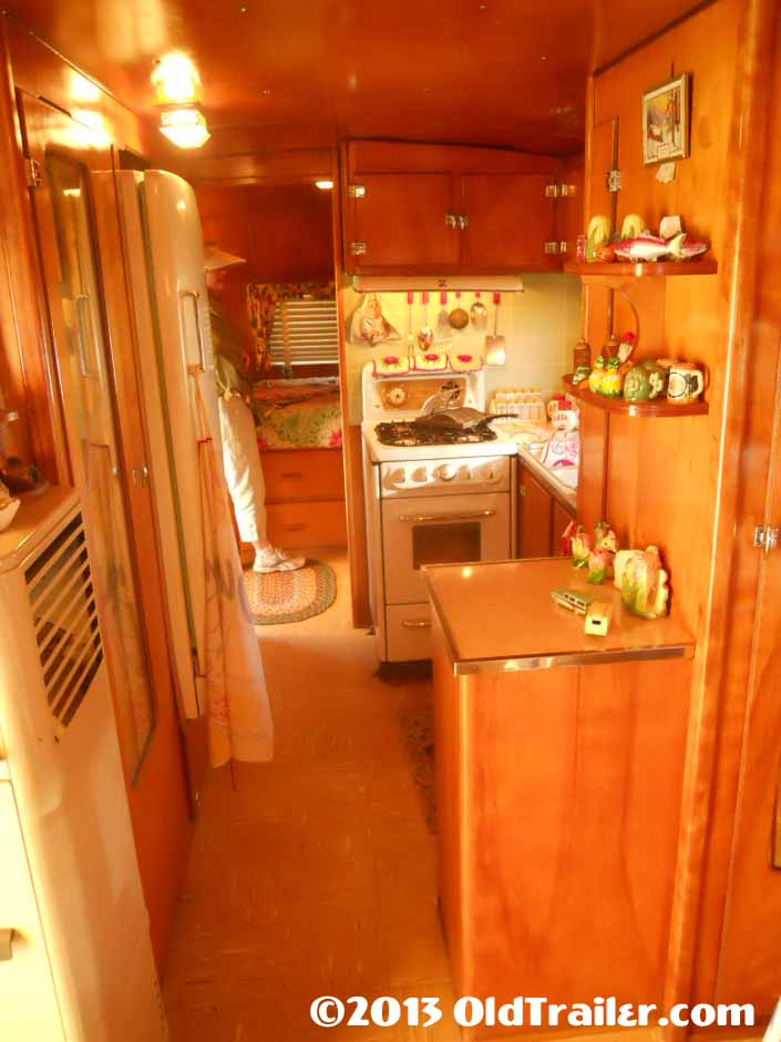 Restored 1951 Vagabond trailer has gorgeous interior cabinetry