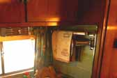 Side galley area in a restored 1951 Vagabond vintage trailer