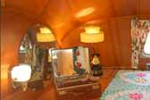 Picture of the nightstand cabinet in a 1951 Vagabond trailer bedroom