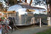 Side View of Classic 1952 Airstream Cruiser Model Trailer