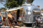 Retro 1952 Airstream Cruiser Trailer With BeachCruiser Bikes!