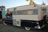Classic 1952 Cadillac that has been customized into a stylish vintage car based camper unit
