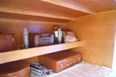 Vintage 1953 Boost Teardrop Trailer Sleeping Quarters - Beautiful Wood Paneling