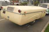 Photo of 1954 Ranger PopUp Tent Trailer uses original 1954 Ford tail lights!