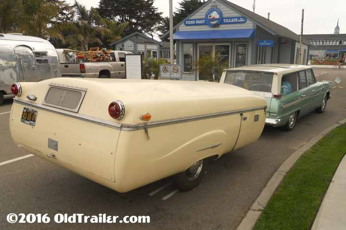This vintage towing rig is a Studebaker Station Wagon pulling a 1954 Ranger Pop-up trailer