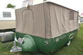 Cool 1954 Sport Ranger Tent Trailer With Tent Set up For Camping