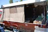 Restored 1954 Sport Ranger Trailer With Fiberglas Poptop and Canvas Tent Sides