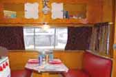 1956 Shasta Trailer with a great retro diner themed dining area