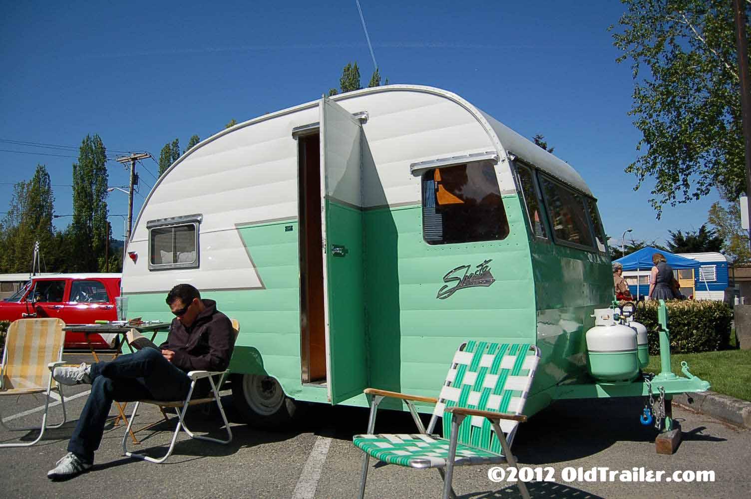 Freshly restored 1956 shasta travel trailer