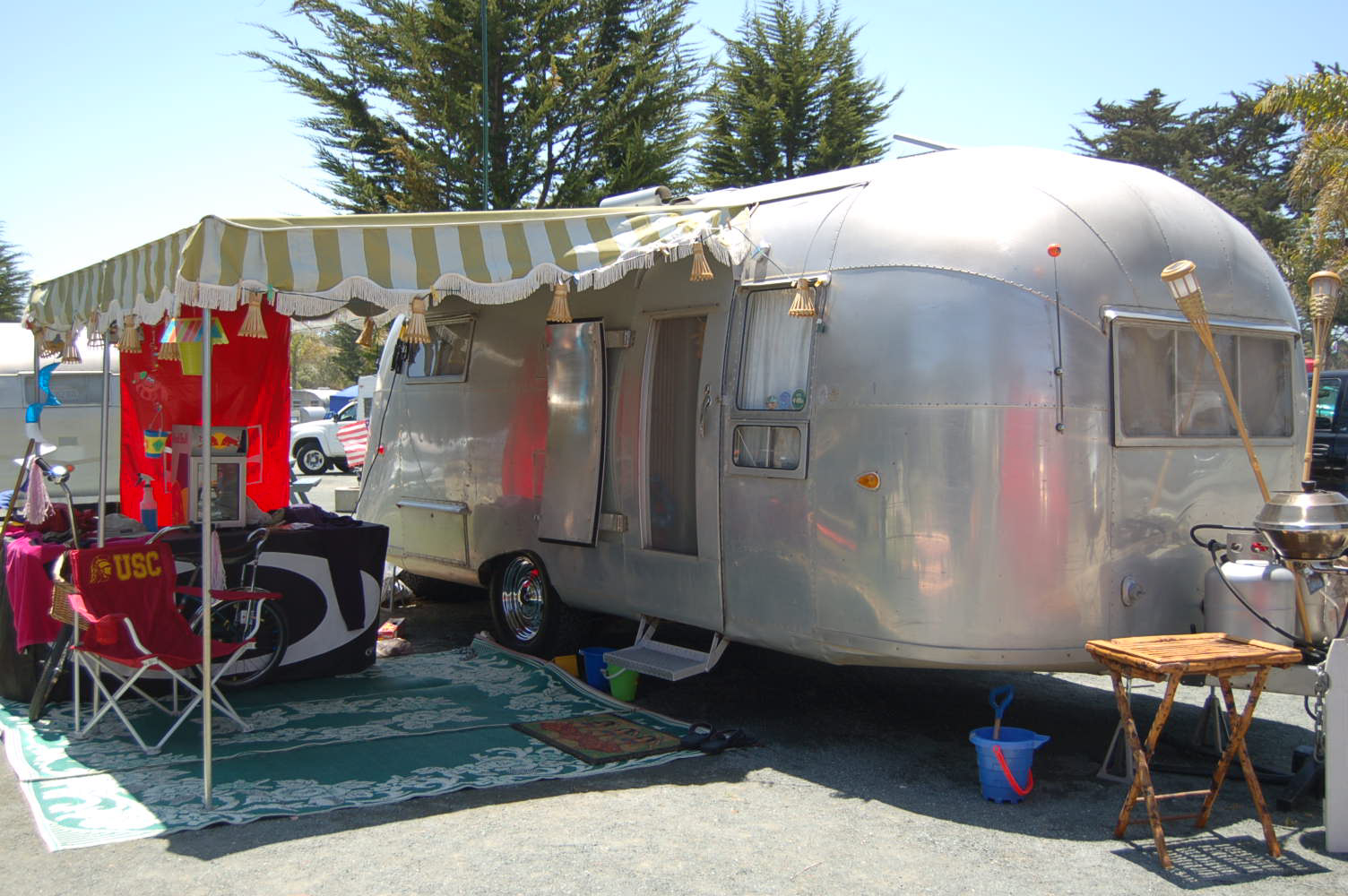 Classic 1957 Airstream Flying Cloud Travel Trailer At Pismo Coastal Village