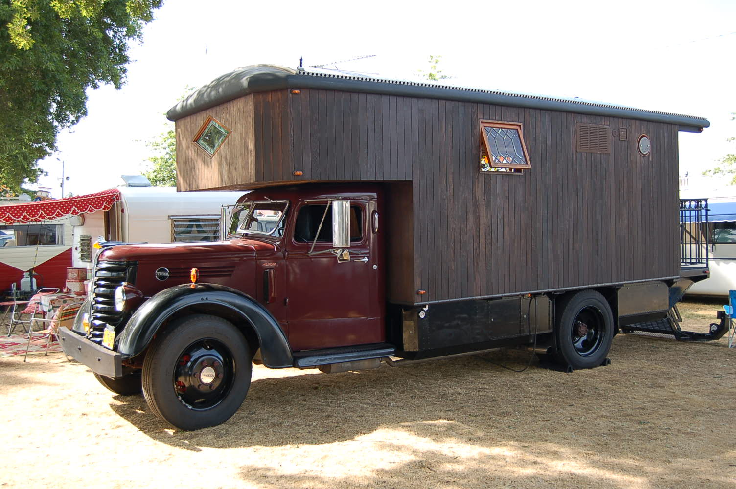 Heavy Duty 1959 Federal Truck Cab And Chassis With A Huge Custom Camper Built On The