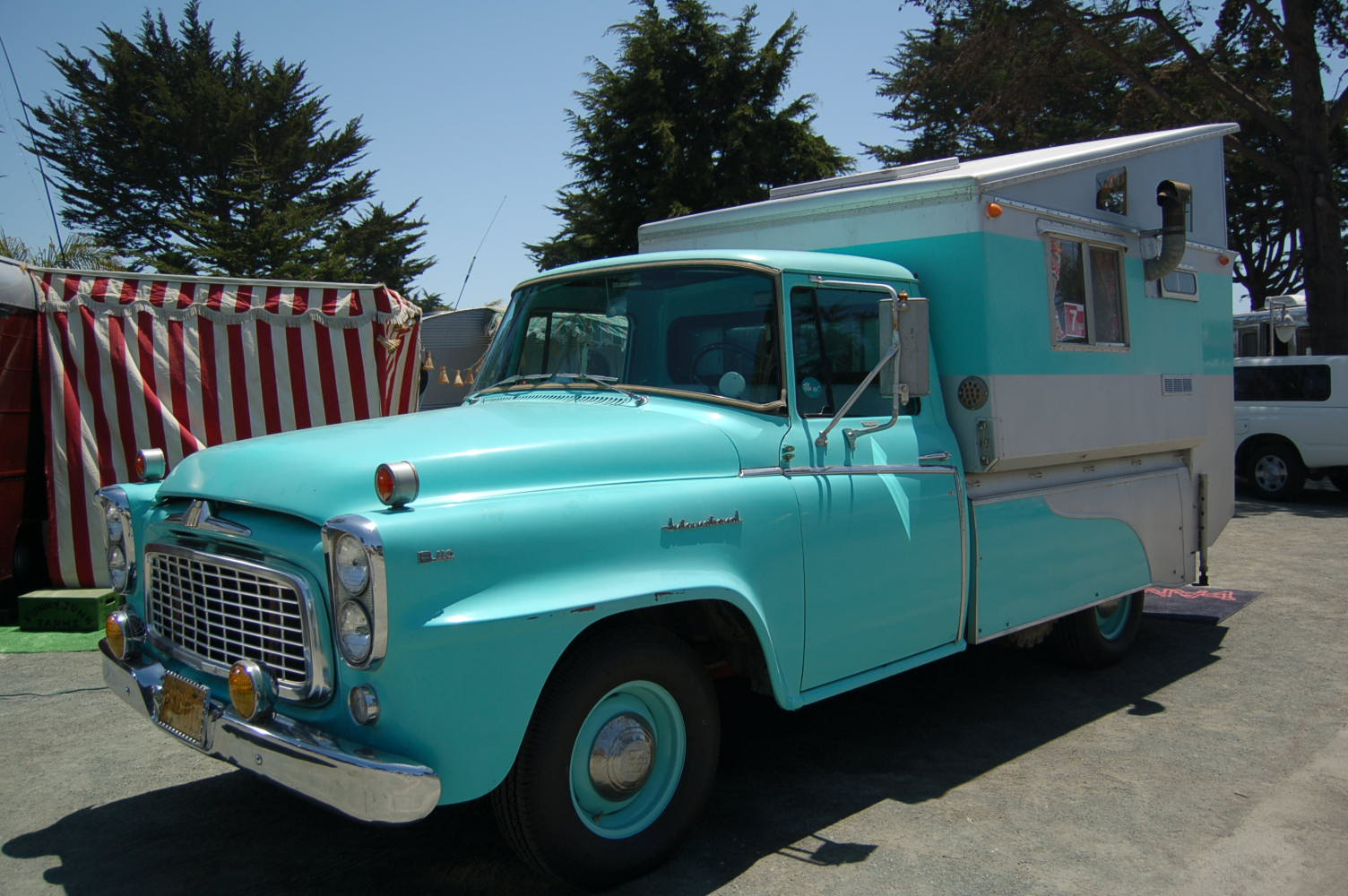 Very Cool Vintage Hinged Top Camper Mounted On A 1960 International Harvester Pickup Truck Based