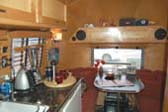 1961 Airstream Globetrotter Trailer With Beautiful Kitchen Cabinets