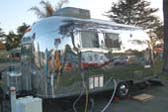 Highly Polished 1961 airstream globetrotter travel trailer