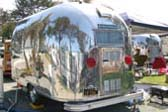 Rear Louvered Panel on Vintage 1963 Airstream Bambi Travel Trailer