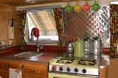 Vintage 1965 Airstream Tradewind trailer with beautifully restored galley