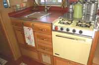 Vintage Airstream Trailer interiors, cabinetry, upholstery and countertops