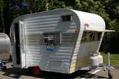 Nice example of an old Aladdin travel trailer, is the Genie model and is ready for restoration