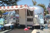 Classic 1967 Airstream Caravel Trailer at The Beach, Ready For Camping!