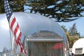 Front View of 1967 Vintage Airstream Caravel Travel Trailer