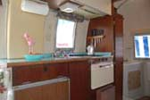 Kitchen Counter and Cabinets in 1968 Airstream Caravel Trailer