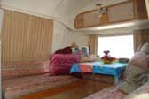 Dining Table and Cabinets in 1968 Airstream Tradewind Travel Trailer