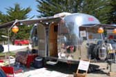1969 Airstream Caravel Trailer With Beautiful Lantern Lights and Side Awning