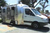 Airstream Trailer Camper Conversion Mounted On Truck Chassis